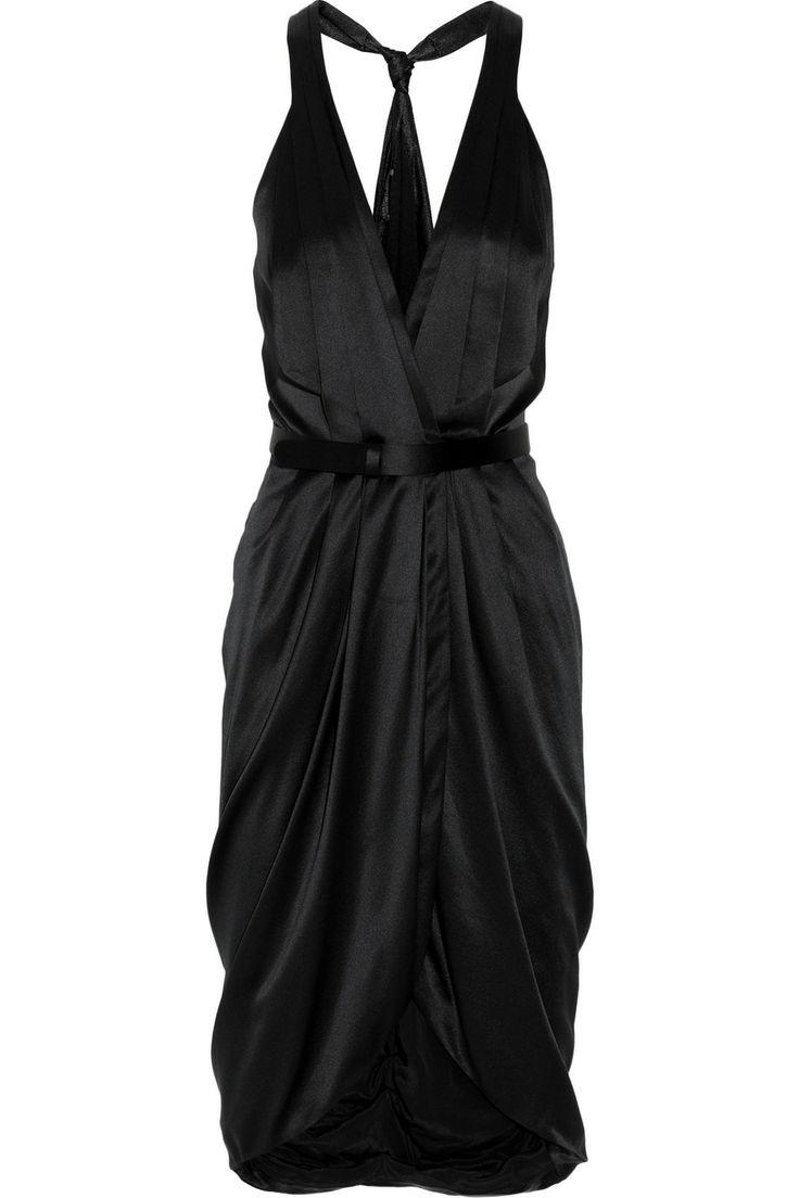 ALEXANDER MCQUEEN  Silk-satin wrap dress