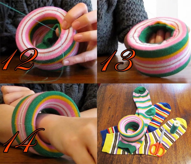 tutorial bracelet with roll scotch and socks