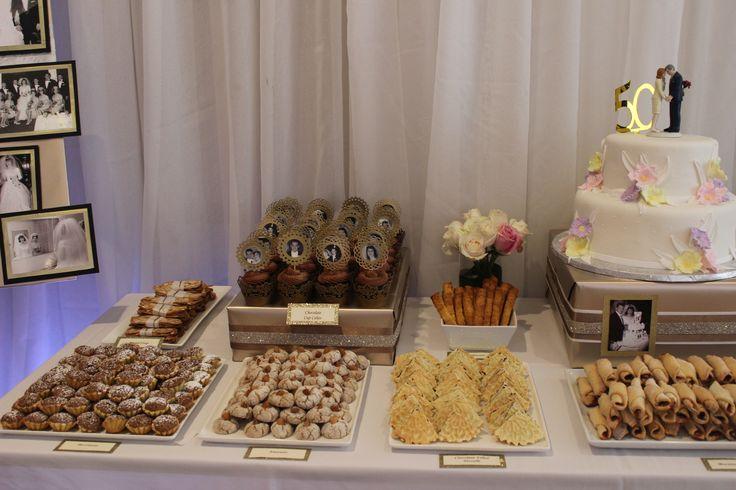 Parents 50th anniversary dessert table parents 50th anniversary