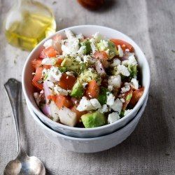 Avocado Feta Salsa: Avocados, tomatoes, and feta cheese combined to ...