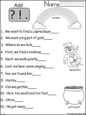 Punctuation worksheets 3rd grade pdf
