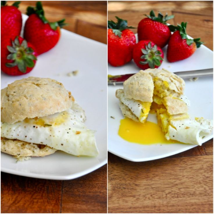 egg and rosemary garlic biscuit sandwich | recipes to try | Pinterest