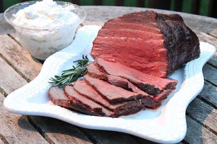 Roast Beef with Horseradish Cream | Beef recipes | Pinterest