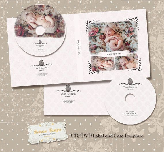 CD DVD Disc Label and Case Template vol.21 by RakusiaDesigns, $9.99