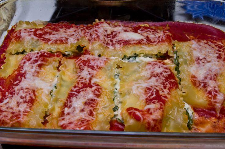Spinach Lasagna Rolls | Food & Drink | Pinterest