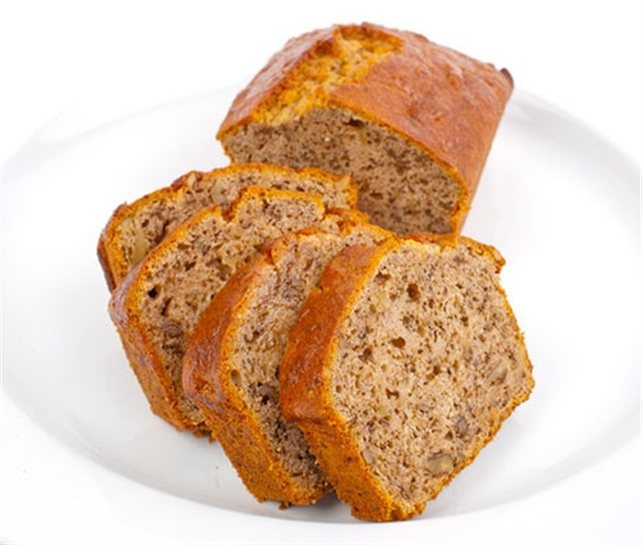Yummy banana bread that i use olive oil to make it healthy and moist ...