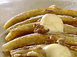 Banana and Pecan Pancakes with Maple Butter : Recipes : Cooking ...