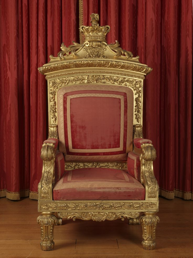 And queen chairs on pinterest throne chair king chair and chairs - Queen Victoria S Throne Made For Her Coronation In 1837