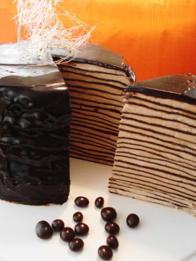 dark chocolate crepe cake | Desserts | Pinterest