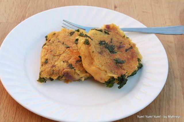 Potato Kale Cakes aka Aloo Kale Tikkis   Recipes   Pinterest