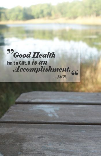 Make good health decisions now, and have more opportunity for good health later in life.