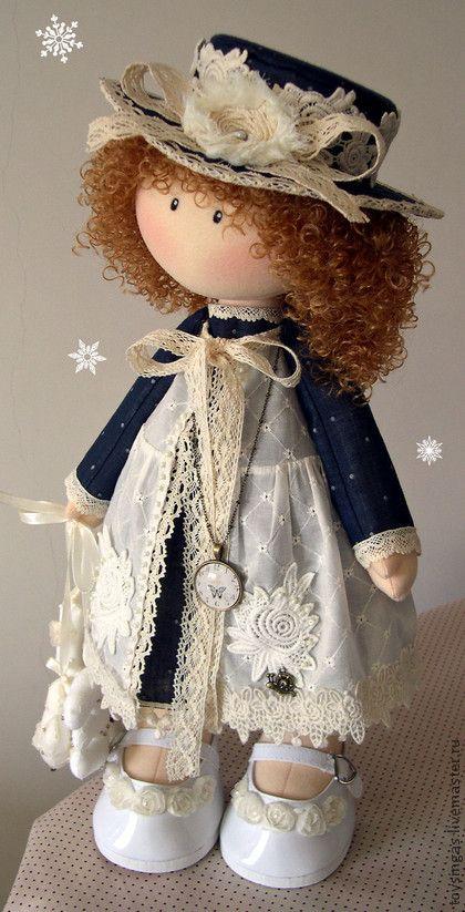 Коллекционные куклы ручной работы. Ярмарка Мастеров - ручная работа Кукла текстильная Lizi. Handmade.