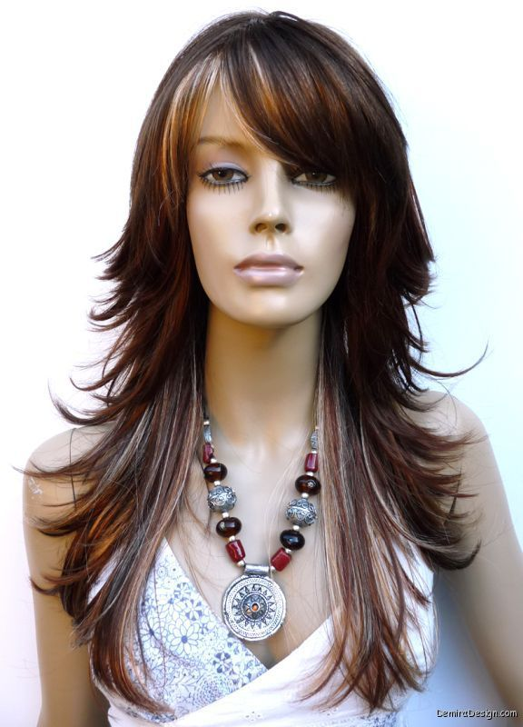 razor cut layered hairstyles for long hair images