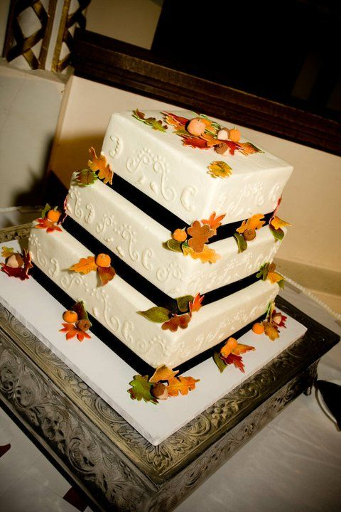 Fall/October Wedding Cake~Katie