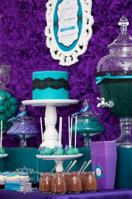 18 of 23: Purple and Teal / Birthday Purple and Teal 30th Birthday ...