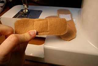 So clever - make velcro band-aids for stuffed animals.