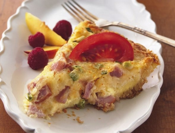 Quiche with bacon and Swiss cheese | Foodie Favs | Pinterest