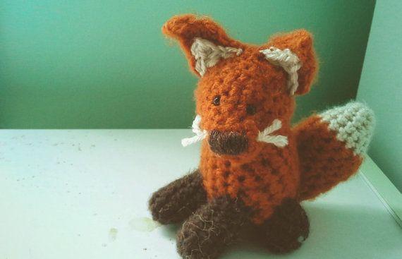 Fox Crochet Stuffed Doll Toy Fantastic Orange by CreativeCharmer, $24 ...