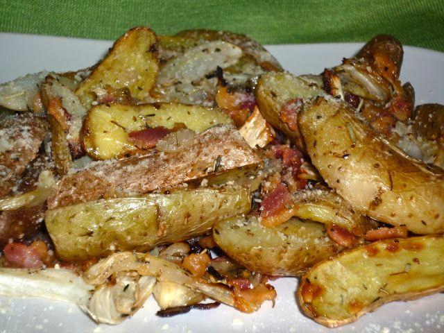 Roasted Fingerling Potato Crisps With Shallots And Rosemary Recipe ...