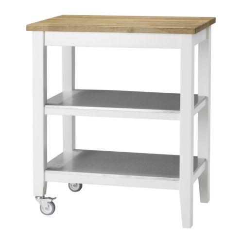 STENSTORP Kitchen cart white oak