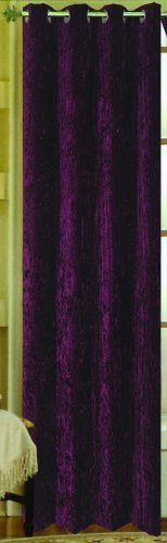 Keila crushed velvet grommet top curtain panel 55 inches wide x 84
