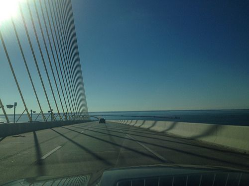 Pin by 5wa on sharing tampa bay with a 2014 chevrolet for Skyway bridge fishing
