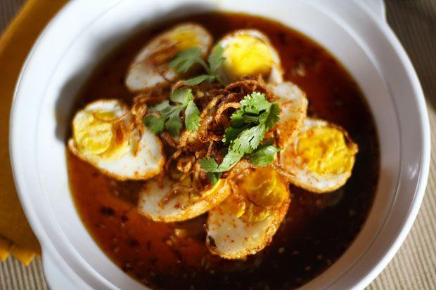 Thai Son-in-Law Eggs...Deep Fried Hard Boiled Eggs!