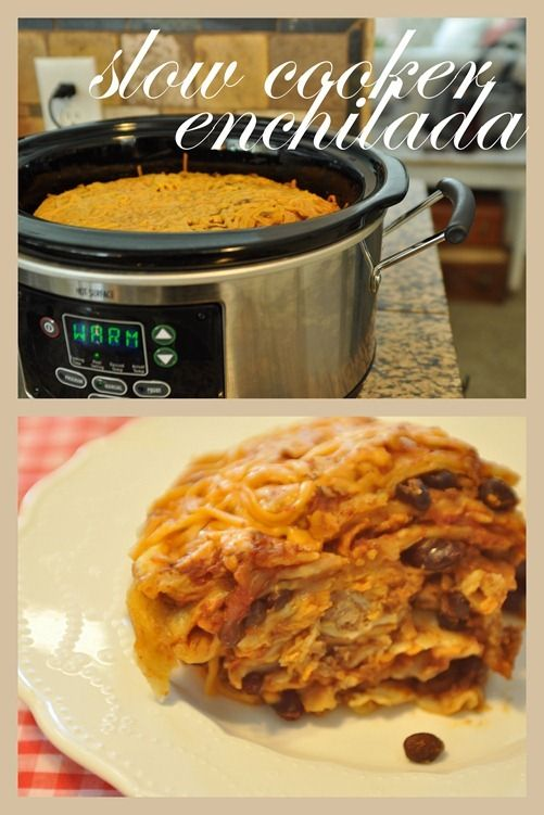 Slow Cooker enchiladas | Crankin' Up The Crock Pot | Pinterest