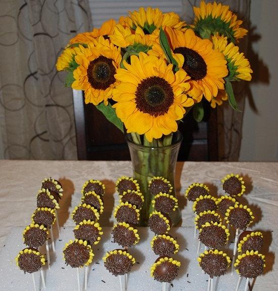 Sunflower Cakepops Cake Ideas And Designs