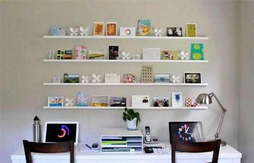 #diy gallery shelves