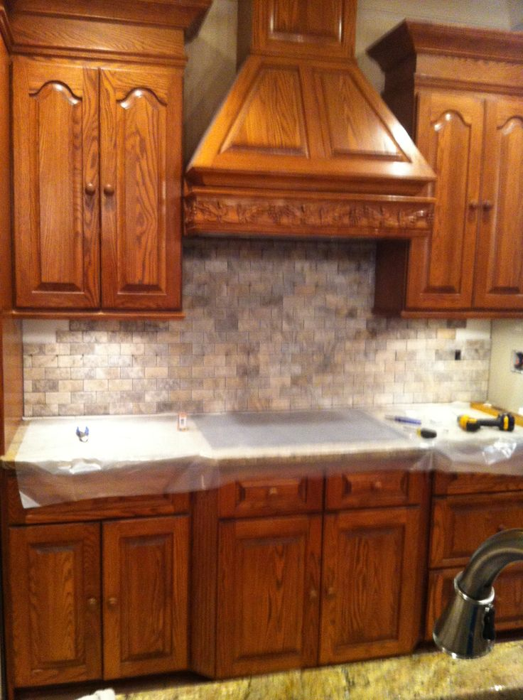 tumbled marble backsplash my kitchen pinterest