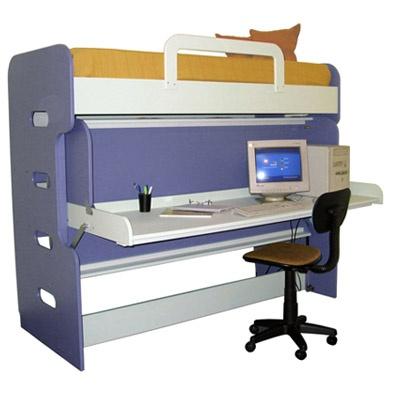 Hiddenbeds double decker desk bed.  Desk Bed  Pinterest