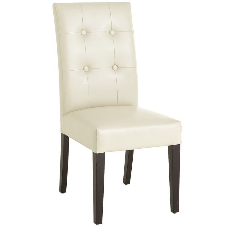 mason bonded leather dining chair ivory pier1 us