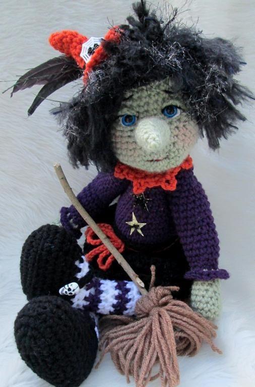 Amigurumi Witch Pattern : Cute Witch Crochet Pattern Crochet Amigurumi & Toys ...