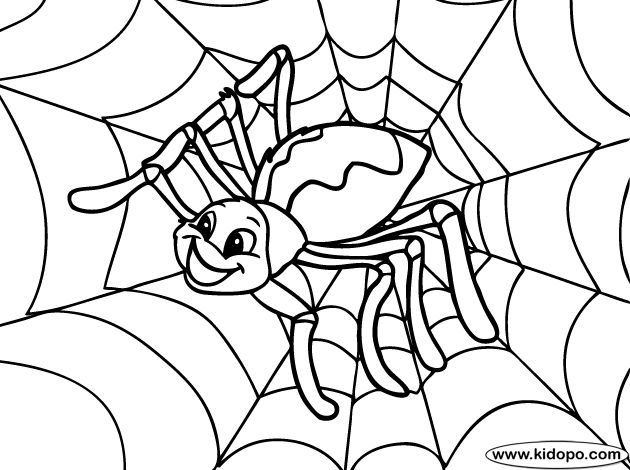 halloween spider web coloring pages - photo#27