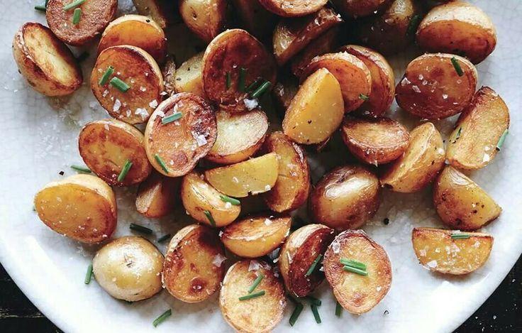 Bon Appetit salt and vinegar potatoes | Ideas for Dinner | Pinterest
