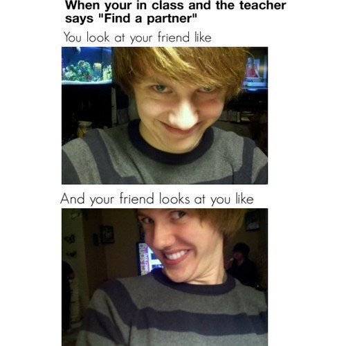 Find a partner.