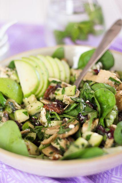 Chicken, Green Apple And Feta Salad Recipe — Dishmaps