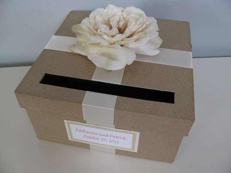 Rustic Wedding Card Box Ivory Rose With Chalkboard Wood Or Paper Pers