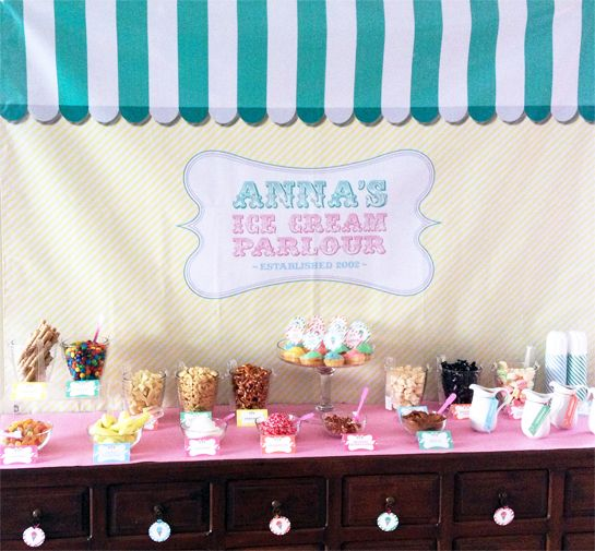 "Ice Cream Party / Birthday ""Anna's Ice Cream Parlor"" 