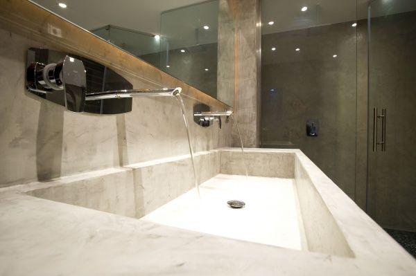 Baño Microcemento Alisado:Microcemento