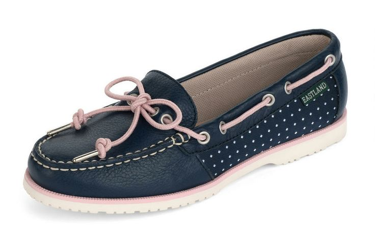 Women's Summerfield Boat Shoe Slip On - Blue #eastlandshoe