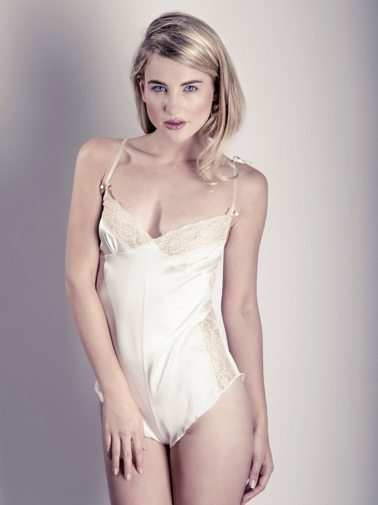Satin teddy lingerie