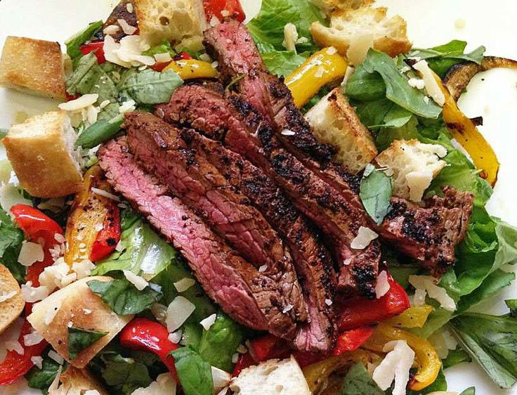 More like this: pepper salad , roasted peppers and steaks .
