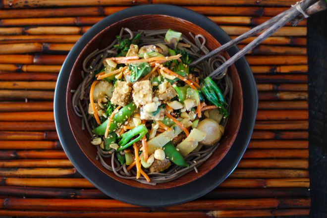 Peanut Tempeh Stir-Fry with Soba Noodles | Libations | Pinterest