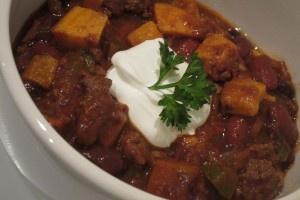 Sweet potato and turkey chili--Update:  I made this, it's pretty good!