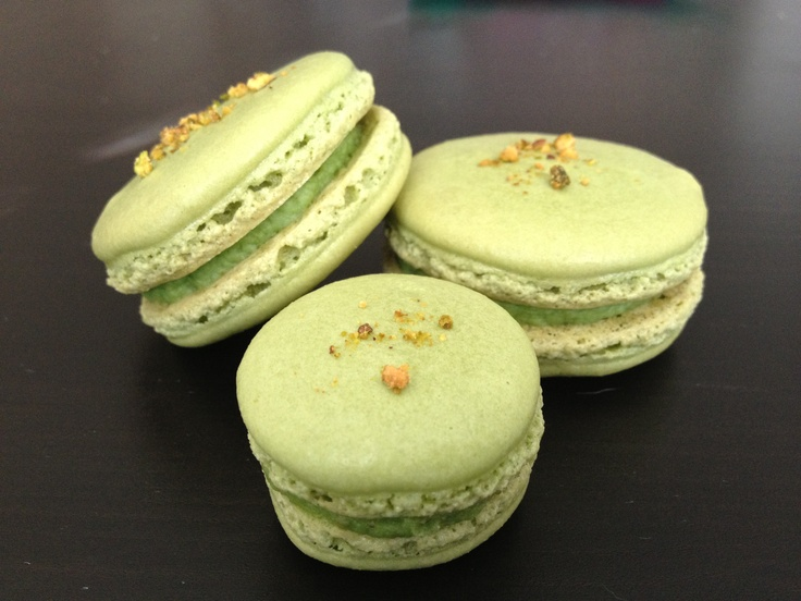 Pistachio macarons made by me! | Food | Pinterest