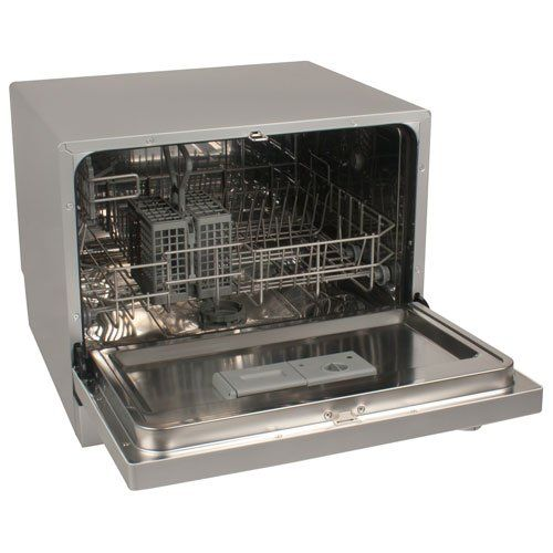 EdgeStar 6 Place Setting Countertop Portable Dishwasher - Silver ...