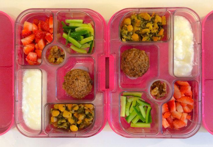 05022014 - strawberries, cucumber, banana quinoa muffin, chickpea stew ...