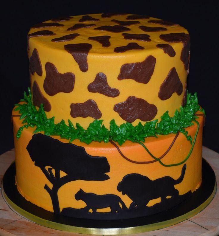 lion king cake baby shower cakes pinterest
